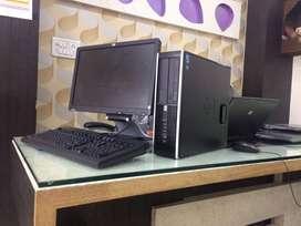 Used HP core I3 Processor 8gb ram 1tb hdd 19'led full set desktop