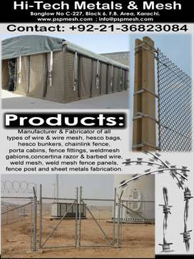 Hesco, Wire Mesh, Hesco Barriers, Hesco Gabions, Gabion Bags etc