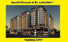 HURRY BOOK NOW..RS.200000 DISC.-3BHK READY 2 MOVE-AJWA ROAD-KANHA CITY