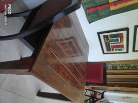 SELLING SHEESHAM DINING TABLE & 2 CHAIRS