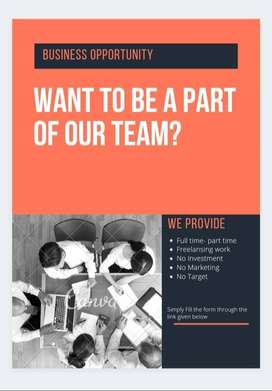 Online & offline business promotion work  Part time & full time both a
