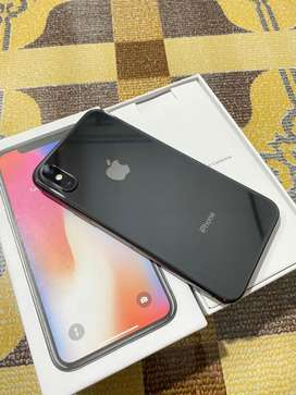 Iphone X 64gb lengkap mulus