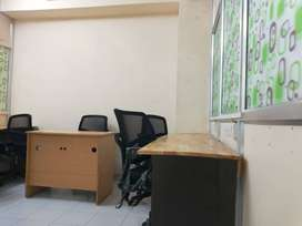 furnished 8 seater private office With Md table plug & play for rent