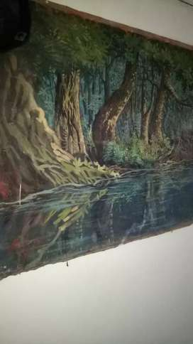 Lukisan Lawas Pemandangan Karya Alm. Tohari