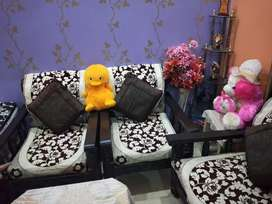 Wood sofa set and centre table,sofa covers with qustion