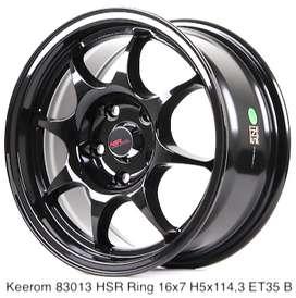 velg model KEEROM 83013 HSR R16X7 H5X114,3 ET35 BLACK