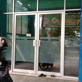 pintu kaca tempered dan alat2 kantor