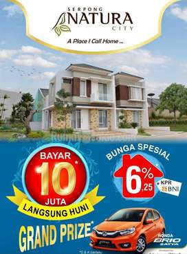 Smart Investment Quality Home Dp0% Serpong Natura City