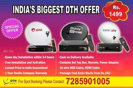 Tata Sky HD Airtel DTH Sun Direct New Connection at Rs 999 Only