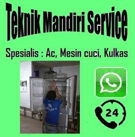 Service Kulkas showcase pasang AC isi Freon | Mesin cuci top loading