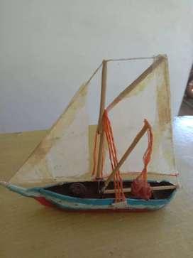 Hand made teakwood ship