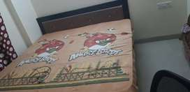 Double bed 6*6   With mattresses Available for sale with BOX