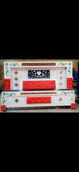 6×6 Double bed plywood