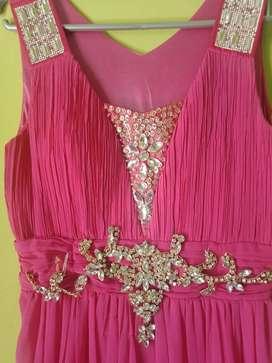Gaun pink premium bekas