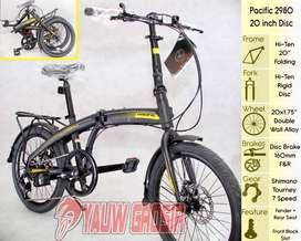 Sepeda Lipat Folding Pacific Cakram 2980HT Yellow