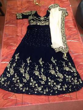 Party wear lehnga navy blue color