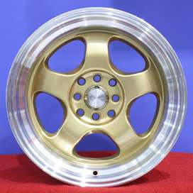 HSR BRISKET Ring.16 Lebar.7-8,5 PCD.4X100-4X114,3 ET.40-35 GOLD