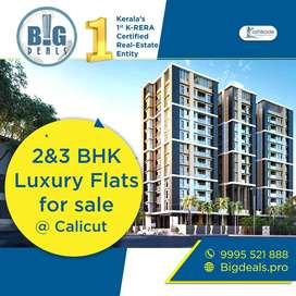 2&3 BHK Furnished or Semi-furnished flats for sale at Calicut.