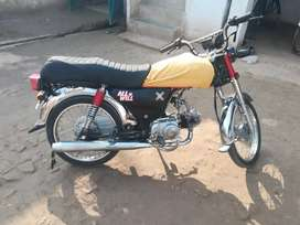 Red color zxmco motorcycle 19 model