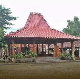 Jual Joglo Pendopo Soko 20cm Full Kayu Jati, Rumah Joglo