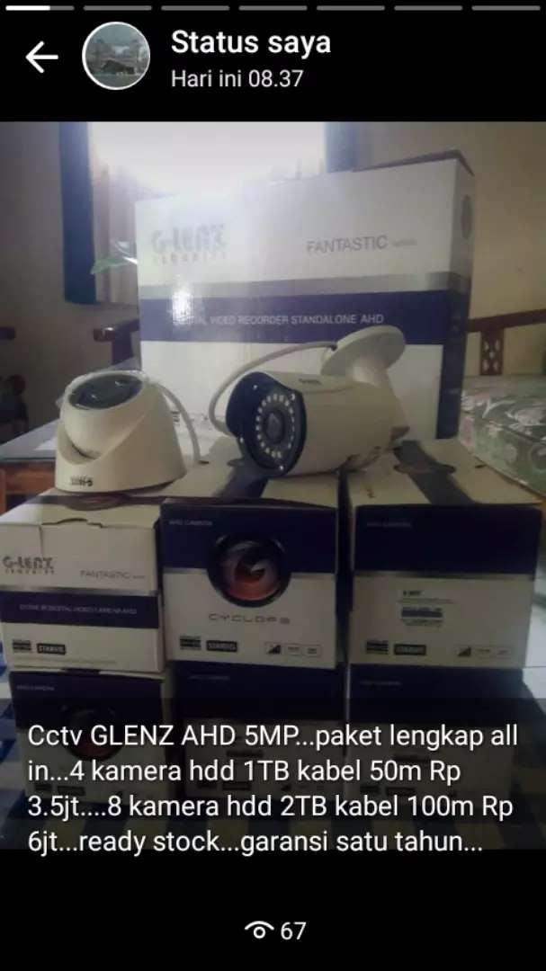 Paket cctv g lenz 4channel