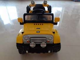 Yellow Jeep Battery Operated Ride On. Almost new.