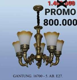 Gudang Lampu Gantung Cabang 5 Klasik Antik