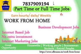 Part Time| Home Based | Online Work |computer Operator