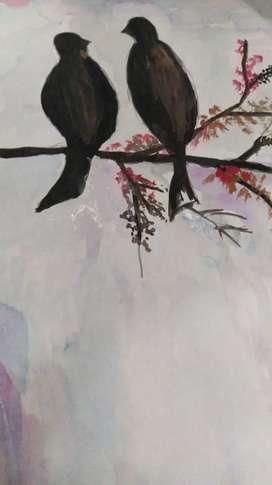Love birds  wall art