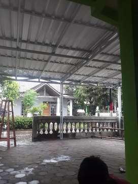 Atap,bajaringan,genting metal,kanopi