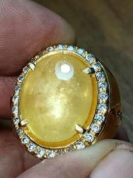 Cempaka kuning kristal yellow sapphire
