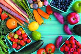Fresh and fast vegetables and fruits