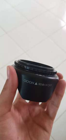 Lenshood / Tudung Lensa untk lensa berdiameter 58mm