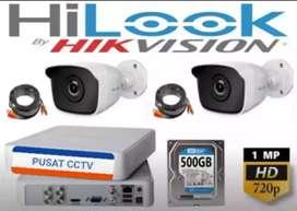 Paket CCTV Online FULL HD MATA 2 Camera 2MP + instalasi ( Bintaro )