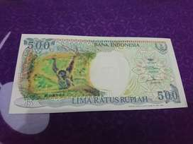 Uang kuno unik 500 monyet gantug