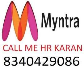 Myntra online shopping Company job full time apply helper,store keeper