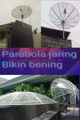 Gambar tv jadi bening pakai parabola jaring