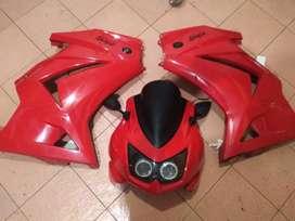 Full body Moge Kawasaki Ninja 250 R Karbu Merah Original Muluss