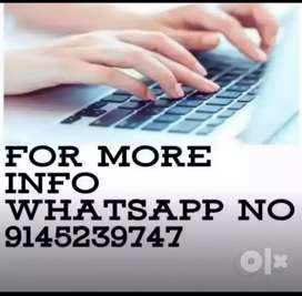We need candidat for data entry work
