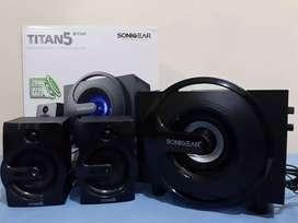 Speaker woofer bluetooth titan 5 bmti + fm + usb + sd card