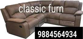 brand new traditional look recliner sofa