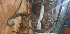 Rot Iron dining table and 6 chairs