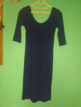 midi dress biru dongker (navy)
