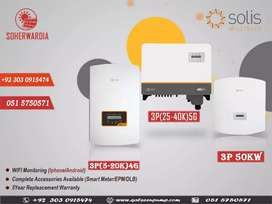 Solis On Grid Solar Inverter, 5kw to 50 KW available, attractive price