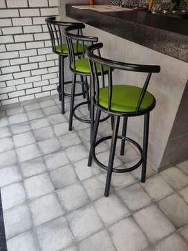 Galvanized Steel Rotating Bar Stool Chair