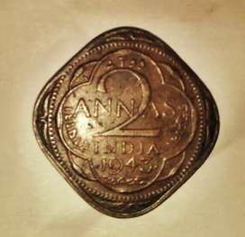 2 anna old coin(GeorgeVI)