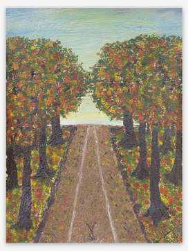 Hand Painted Canvas - 'Fall'