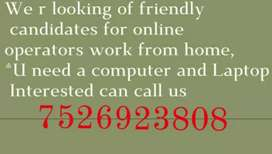 Work@Home | Part Time | Data Entry | Computer Operator | Online Work