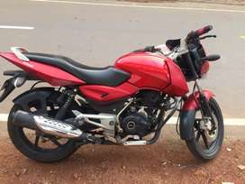 Pulser 150cc fire red ,good condition,Tyre average