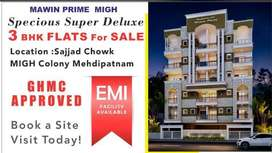 Flats for sale at mehdipatnam MIGH Colony